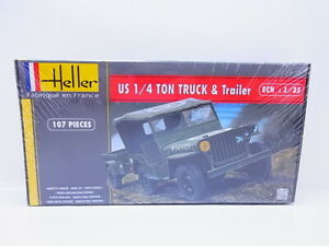 59015-Heller-81105-US-1-4-Tone-Truck-amp-Trailer-1-3-5-Kit-New-Original-Packaging