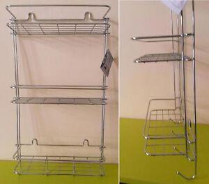 Porta Shampoo Per Doccia.Dettagli Su Scaffale Bagno Mensola Mensoletta Porta Shampoo Tripla Per Doccia Porta Sapone