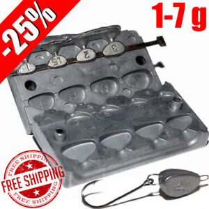 Details about Fishing Sinker Aluminum Mold -25% DIY Do It Fishing Lead  Molds Fish Head 1-7 g