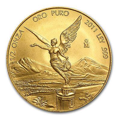 2011 1/2 oz Gold Mexican Libertad Coin - Brilliant Uncirculated - SKU #60591