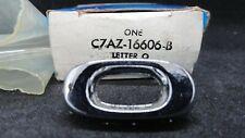 Nos 1967 1968 Ford Galaxie Hood Emblem Letter O C7az 16606b