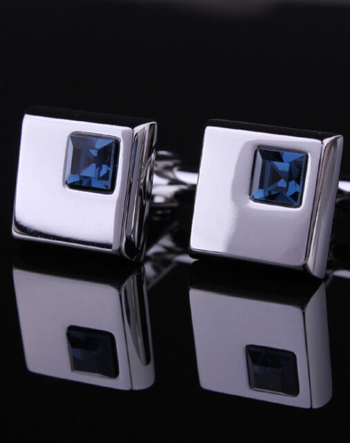 Silver Mens Cuff links Business Shirt Cufflinks Professional Wedding Cufflinks