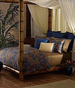 Ralph Lauren Indigo Bali 7p King Comforter Set Ebay