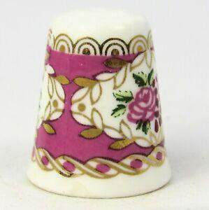 Personalised Red Carnation Fine Bone China Thimble
