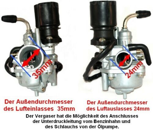 NEW TUNING VERGASER KIT E-CHOKE für MOTOWELL MAGNET RS 50 wassergekühlt