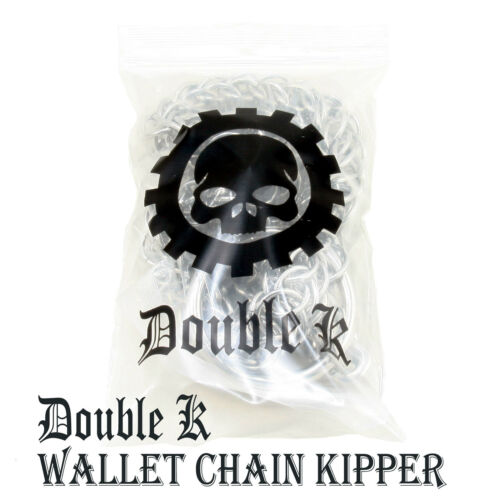 DK Short Skull Classic Biker Trucker Key Jean Wallet Chain BLK//SLV CS103 /& ACS86