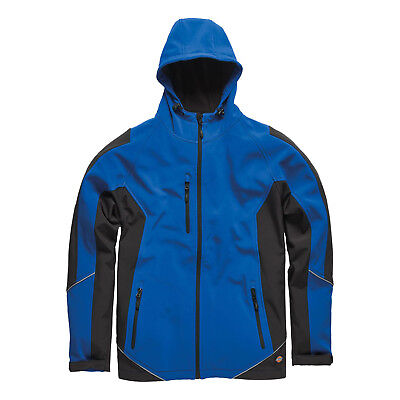 XXXL Dickies Two Tone Soft Shell Jacket Smart Mens Coat JW7010 7 Colours S