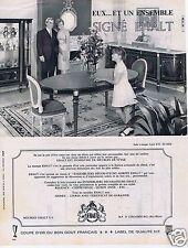Publicité Advertising 056 1965 EHALT meubles  à Strasbourg