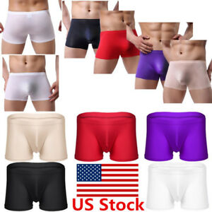 102fb764372d Image is loading US-Mens-Panties-Breathe-Ice-Silk-Boxer-Briefs-