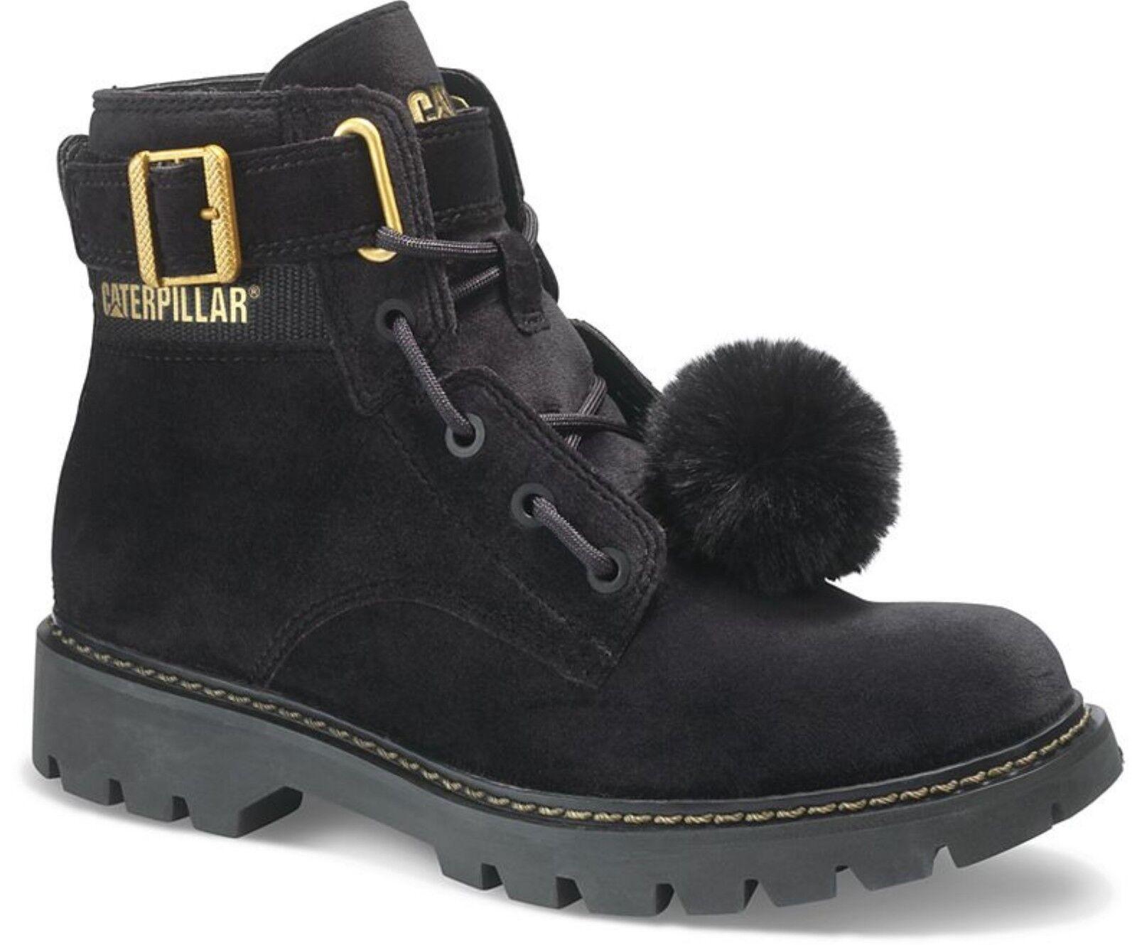 Caterpillar  Conversione Velvet Ladies nero Cushioned Durable Ankle stivali  è scontato