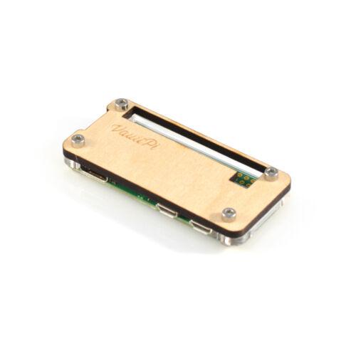 Wood /& Clear Acrylic Case for Raspberry Pi Zero /& Zero W VaultPi