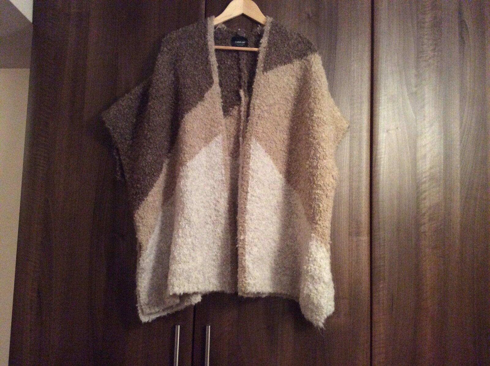 Brand New No Tags Zara knit cardigan shawl