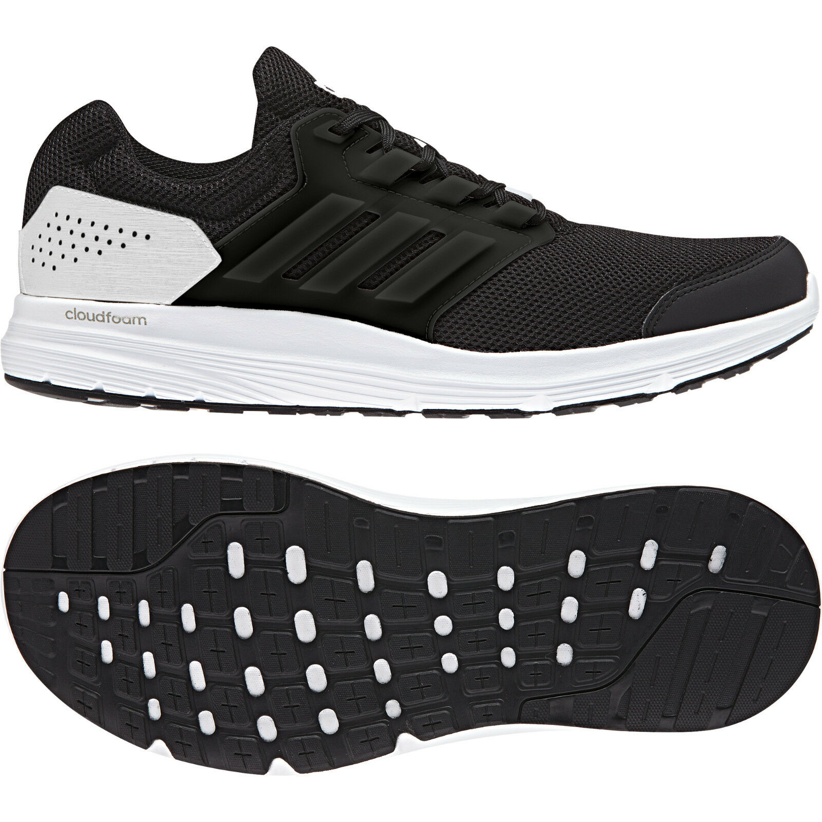 Adidas Men Running shoes Galaxy 4 Trainers Cloudfoam Training CP8826 Black New