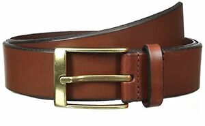 Mens Florsheim Beveled Edge Casual Leather Belt Cognac