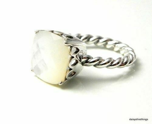 f346ae3e3cc3e Authentic PANDORA Ring Sincerity Mother of Pearl #190828mp Retired 7