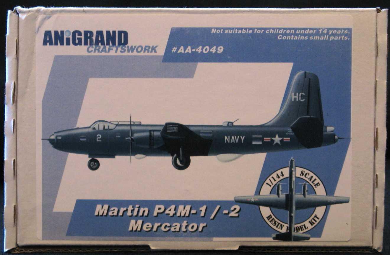 Anigrand Models 1 144 MARTIN P4M MERCATOR U.S. Navy ASW Aircraft
