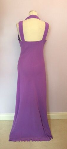 New Taglia sera a Lilac Bacconi Brand Rich da abito Gina 14 pieghe lungo Top 1wPCxdq7