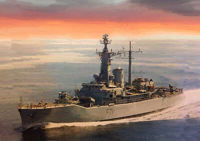 LIMITED EDITION ART HMS SCYLLA 25