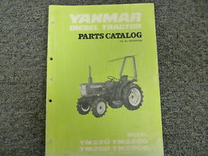 yanmar ym220 ym250 ym220d ym250d diesel tractor parts catalog manual rh ebay com Yanmar Tractor Parts Yanmar Replacement Parts