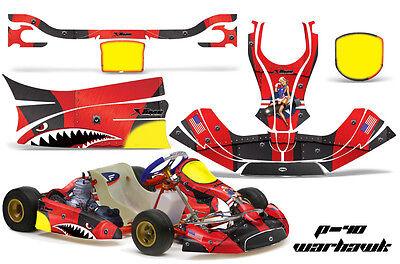 Go Kart Graphics Kit Decal Sticker Wrap For Kg Freeline Birel Adult Warhawk Red Ebay