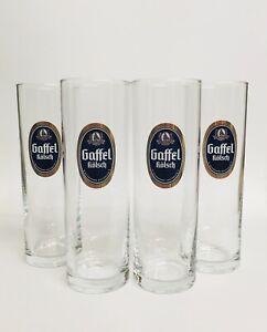 Gaffel-Kolsch-set-of-4-German-Beer-Glasses-0-2-Litre-Stange-NEW