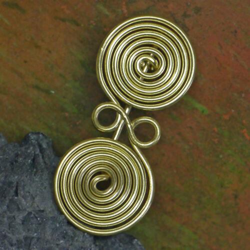 tolle Messing Spiralfibel Brillenfibel Bronzezeit 1000 v.Chr Etrusker  Kelten