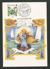 GUERNSEY MK 1986 WEIHNACHTEN CHRISTMAS NAVIDAD CARTE MAXIMUM CARD MC CM d9182