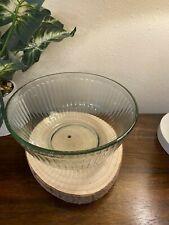 VINTAGE PYREX USA CRANBERRY//PURPLE STRIPED 2.5 LITER 10 CUP MIXING BOWL #7403