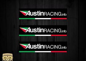 PEGATINA DECAL STICKER AUTOCOLLANT  ADESIVI  AUFKLEBER AUSTIN RACING