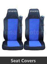 2x VOLVO FH12 FH16 FL FM Coprisedili Fatti su misura HGV Camion Furgone Nero/Blu