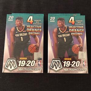 2019-20-Panini-Mosaic-Basketball-Lot-Of-2-Hanger-Box-Brand-New-Sealed