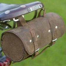 Bicycle Roll Tool Bag Real Leather Vintage Retro RAW BLACK GRAPHITE