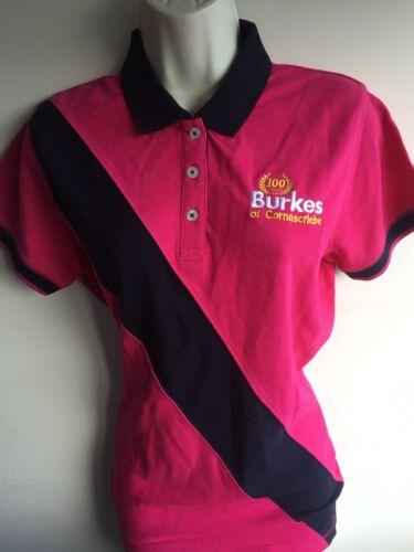 Navy Pink burkes Shirt T Prezzo New Holland inclusa IVA Polo Ladies pwBEqt