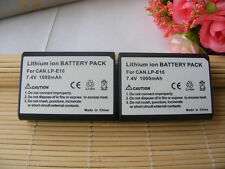 2 Pack LP-E10 Battery for Canon REBEL T3 T5 T6 EOS 1100D 1200D 1300D