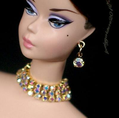 """Rhinestone doll jewelry necklace earrings fits 11.5/"""" doll 843A"""