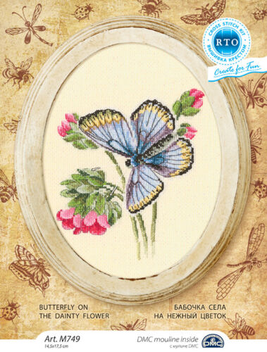 Counted Cross Stitch Kit RTO Butterfly on the dainty flower