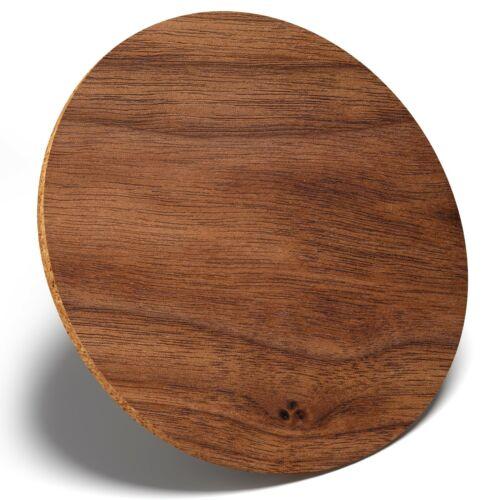1 X marron foncé effet bois-Rond Coaster Cuisine étudiant enfants cadeau #15765