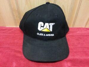 0f8073493ae Vintage CAT Caterpillar Class A Aurora Back Hat Cap Snap Back Made ...