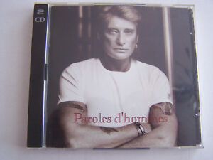 CD-JOHNNY-HALLYDAY-PAROLES-D-039-HOMMES-2-CD-POUR-21-TITRES-TRES-BON-ETAT