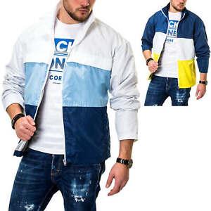 Jack-amp-Jones-Herren-Ubergangsjacke-mit-Color-Blocking-Design-Windbreaker-Jacke