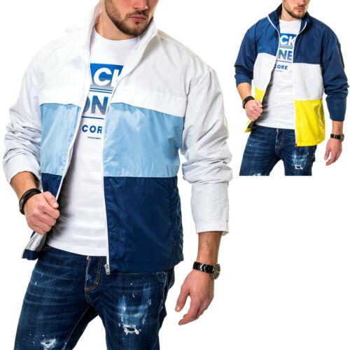 Jack /& Jones Herren Übergangsjacke mit Color Blocking Design Windbreaker Jacke