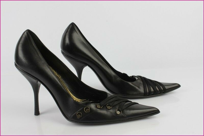 Court shoes BALDAN ITALY All Leather Black T 37 TOP TOP TOP CONDITION 101f22