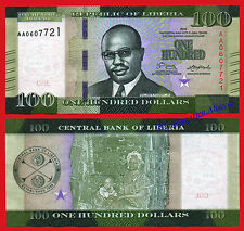LIBERIA 100 Dolares dolares 2016 Pick NEW Serie AA  SC / UNC