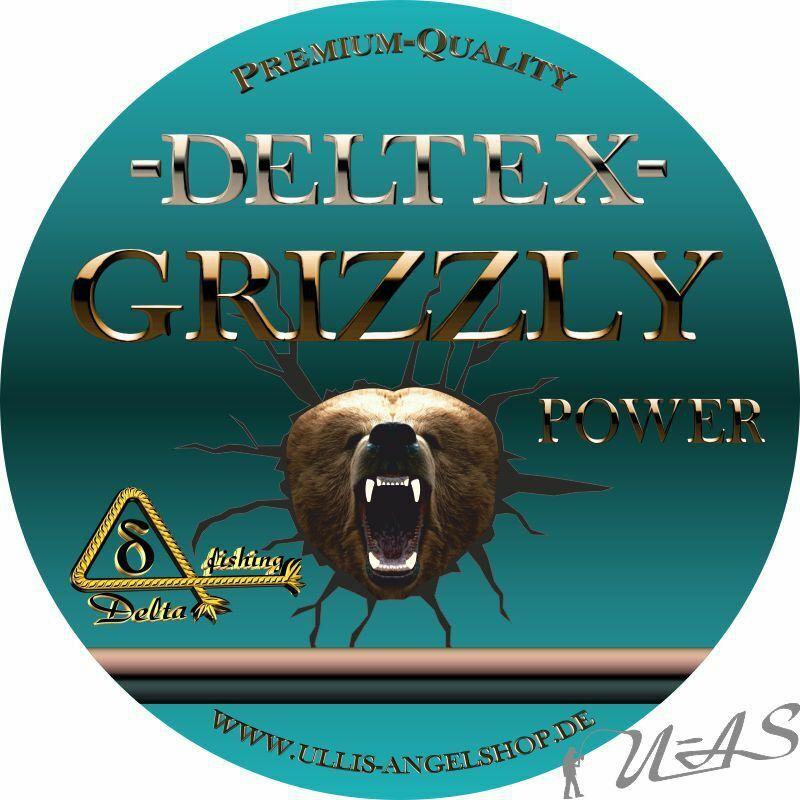 DELTEX GRIZZLY Grün 0.08mm 11,40kg 1000M 4 fach Geflochtene Hi Tech Angelschnur
