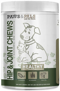 Paws & Pals Glucosamine Chondroitin Hip and Joint 240ct Supplement for Dogs
