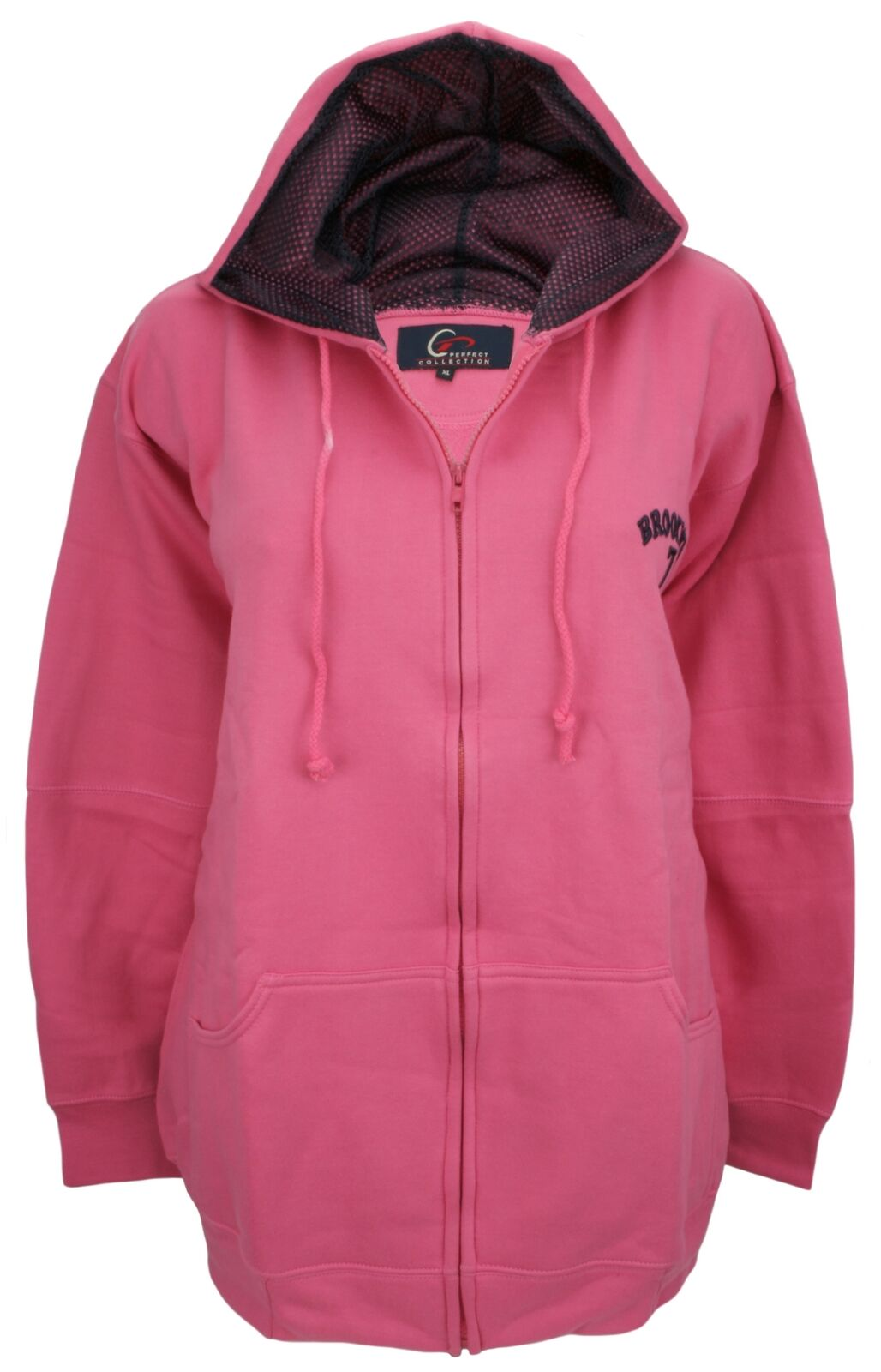 Perfect Collection Embroidered Brooklyn Hoodie Hot Pink