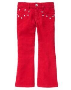GYMBOREE WINTER CHEER RED GEM POCKET CORDUROY PANTS 4 9 10 12 NWT