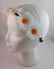 Daisy headband flower wreath white yellow centers twine