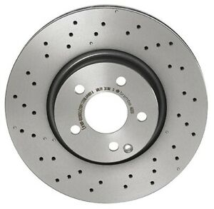 For Mercedes W204 C300 C350 Front Vented /& Cross Drilled Rotors //w Pads Sensors