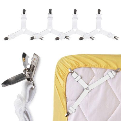 4//1 pcs Bed sheets tensioner adjustable Ironing Board Bed Cloth Tensioner Mattress Clips